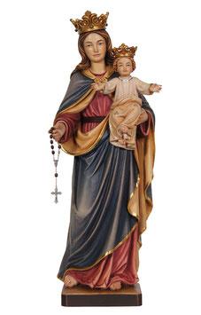 Statua Madonna del rosario in legno