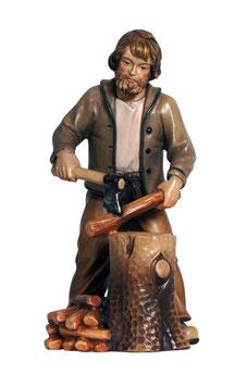 Statua boscaiolo in legno
