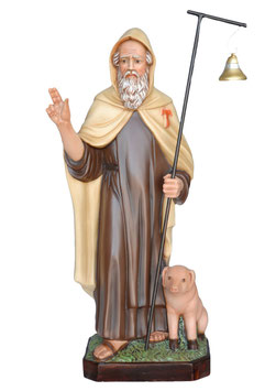 Statua Sant ' Antonio Abate cm. 80 in resina