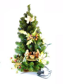 Albero di Natale con statue Natività modello Topazio