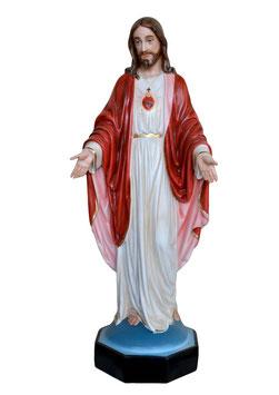 Statua Sacro Cuore di Gesù con braccia aperte cm. 110 in resina