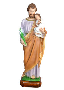 Statua San Giuseppe cm. 40 in resina