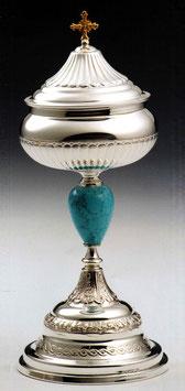 Pisside in argento e turchese mod. 12070P