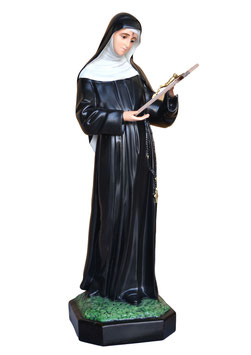 Statua Santa Rita da Cascia cm. 80 in resina