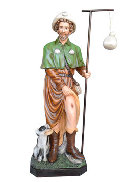 Statua San Rocco cm. 160