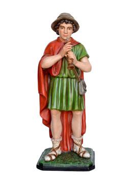 Statua pifferaio per presepe in resina cm. 100