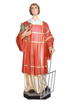 Statua San Lorenzo cm. 160 in vetroresina