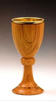 Calice in legno d' ulivo mod. 12110