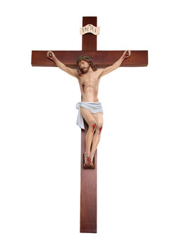Statua Cristo in croce cm. 51