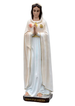 Statua Maria Rosa Mistica in resina cm. 70