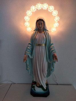Statua Madonna Miracolosa in resina cm. 50 nuovo modello con aureola illuminata