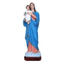 Statua Madonna con Bambino in resina cm. 50