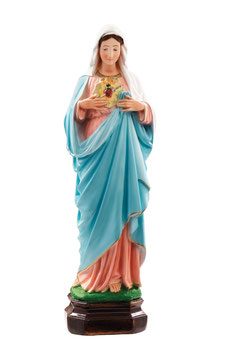 Statua Sacro Cuore di Maria in resina cm. 50