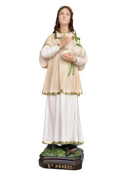Statua Sant ' Agnese cm. 40 in resina