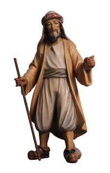 Statua mandriano in legno