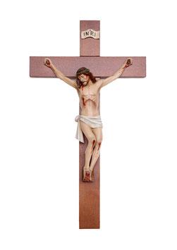 Statua Cristo in croce cm. 20