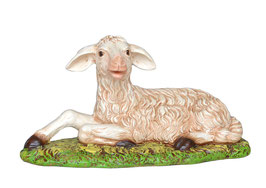 Statua agnello sdraiato cm. 27 x 50
