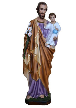 Statua San Giuseppe cm. 70 in resina