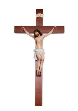Statua Cristo in croce cm. 41