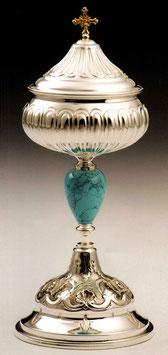 Pisside in argento e turchese mod. 12066P