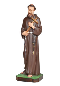 Statua San Francesco d' Assisi cm. 30 in resina