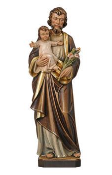 Statua San Giuseppe con Bambino in legno