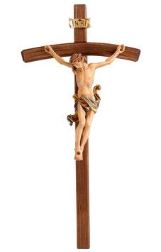 Statua Gesù crocifisso  in legno da parete mod. 704