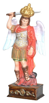 Statua San Michele Arcangelo cm. 30 in resina