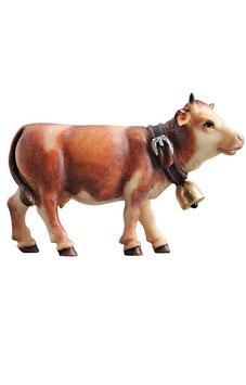Statua mucca testa in avanti in legno
