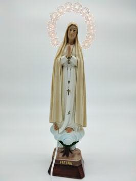 Statua Madonna di Fatima in resina cm. 35 con aureola illuminata