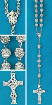 Rosario in argento e cristallo mod. 1752