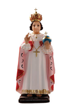 Statua Gesù Bambino di Praga cm. 45 in resina