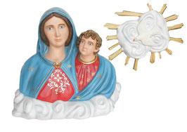 Statua Madonna dell' Arco in vetroresina - busto cm. 80