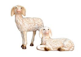 Statua coppia di agnelli cm 23 e 43