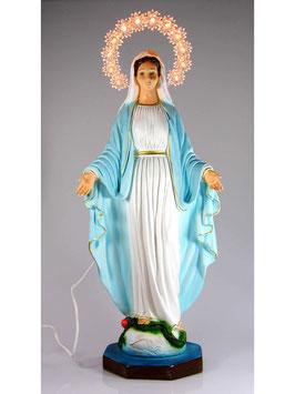 Statua Madonna Miracolosa in resina cm. 40 con aureola illuminata