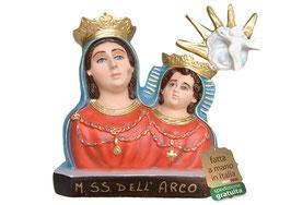 Statua Madonna dell' Arco - busto cm. 35 in resina