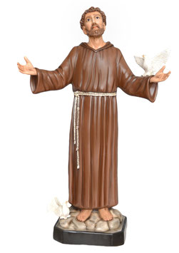Statua San Francesco d' Assisi cm. 130 in vetroresina