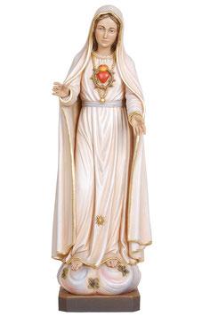 Statua Madonna di Fatima quinta apparizione in legno