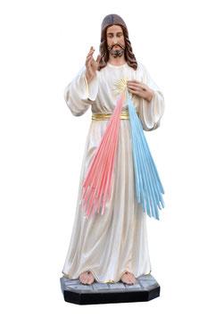 Statua Gesù Misericordioso cm. 120 in vetroresina