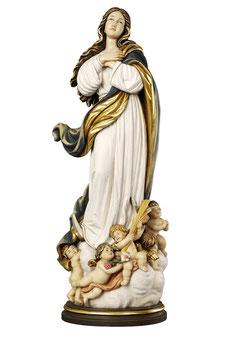 Statua Madonna Assunta al Murillo in legno