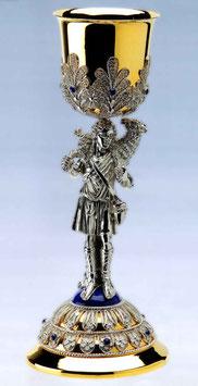 Calice in argento Buon Pastore con lavorazione in filigrana mod. 600
