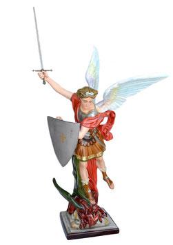 Statua San Michele cm. 160 in vetroresina con spada e scudo