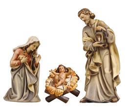 Statua Sacra Famiglia in legno - culla lavorata