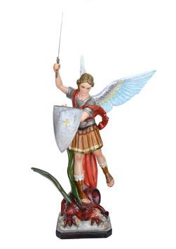 Statua San Michele Arcangelo cm. 120 in vetroresina con spada e scudo