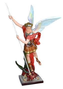 Statua San Michele Arcangelo cm. 160 in vetroresina con lancia