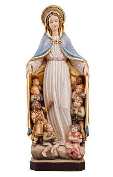 Statua Madonna della protezione in legno