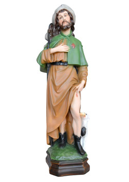 Statua San Rocco cm. 45