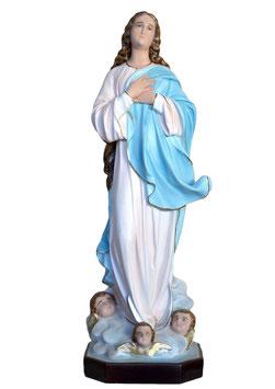 Statua Madonna Assunta del Murillo in vetroresina cm. 100