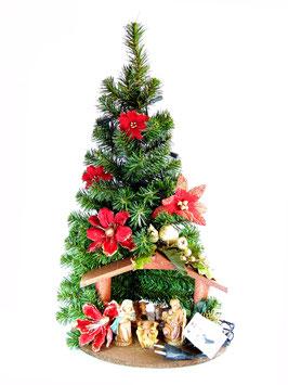 Albero di Natale con statue Natività modello Rubino