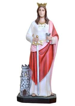 Statua Santa Barbara cm. 85 in vetroresina